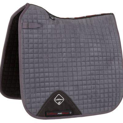 LeMieux ProSport Suede Dressage Square - Grey-Full Size